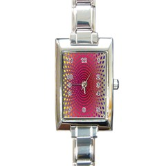 Abstract Circle Colorful Rectangle Italian Charm Watch
