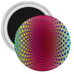 Abstract Circle Colorful 3  Magnets
