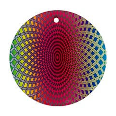 Abstract Circle Colorful Ornament (round)