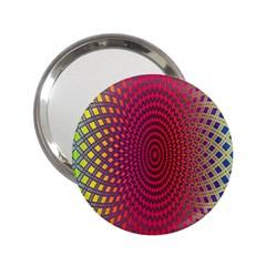 Abstract Circle Colorful 2.25  Handbag Mirrors