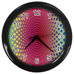 Abstract Circle Colorful Wall Clocks (Black)