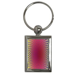 Abstract Circle Colorful Key Chains (Rectangle)