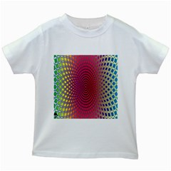Abstract Circle Colorful Kids White T Shirts