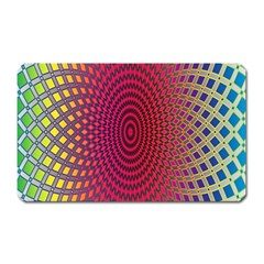 Abstract Circle Colorful Magnet (Rectangular)