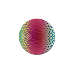 Abstract Circle Colorful Golf Ball Marker (4 Pack)