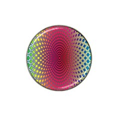 Abstract Circle Colorful Hat Clip Ball Marker (4 Pack)