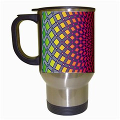 Abstract Circle Colorful Travel Mugs (White)