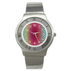 Abstract Circle Colorful Stainless Steel Watch