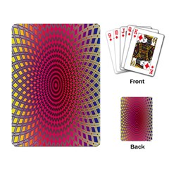 Abstract Circle Colorful Playing Card