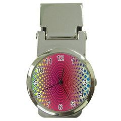 Abstract Circle Colorful Money Clip Watches