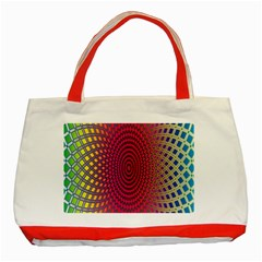 Abstract Circle Colorful Classic Tote Bag (red)