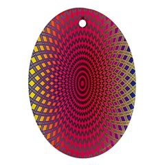 Abstract Circle Colorful Oval Ornament (two Sides)