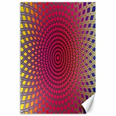 Abstract Circle Colorful Canvas 24  X 36