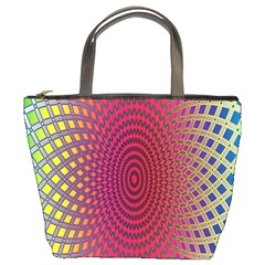 Abstract Circle Colorful Bucket Bags