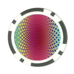 Abstract Circle Colorful Poker Chip Card Guard (10 Pack)