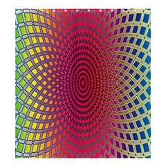 Abstract Circle Colorful Shower Curtain 66  X 72  (large)