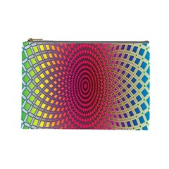 Abstract Circle Colorful Cosmetic Bag (Large)