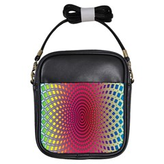 Abstract Circle Colorful Girls Sling Bags