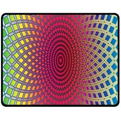 Abstract Circle Colorful Fleece Blanket (medium)