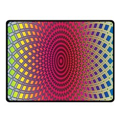 Abstract Circle Colorful Fleece Blanket (small)