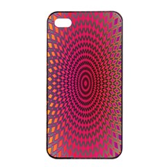 Abstract Circle Colorful Apple iPhone 4/4s Seamless Case (Black)