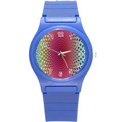 Abstract Circle Colorful Round Plastic Sport Watch (S)