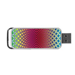 Abstract Circle Colorful Portable USB Flash (One Side)