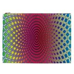 Abstract Circle Colorful Cosmetic Bag (XXL)