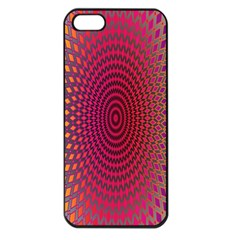 Abstract Circle Colorful Apple iPhone 5 Seamless Case (Black)