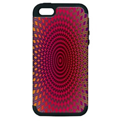 Abstract Circle Colorful Apple iPhone 5 Hardshell Case (PC+Silicone)