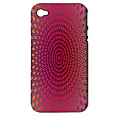 Abstract Circle Colorful Apple iPhone 4/4S Hardshell Case (PC+Silicone)