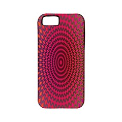 Abstract Circle Colorful Apple Iphone 5 Classic Hardshell Case (pc+silicone)