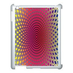 Abstract Circle Colorful Apple Ipad 3/4 Case (white)