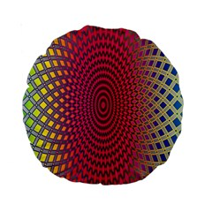 Abstract Circle Colorful Standard 15  Premium Round Cushions