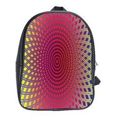 Abstract Circle Colorful School Bags (XL)