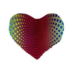 Abstract Circle Colorful Standard 16  Premium Heart Shape Cushions