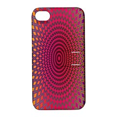 Abstract Circle Colorful Apple iPhone 4/4S Hardshell Case with Stand