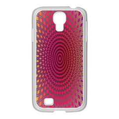 Abstract Circle Colorful Samsung GALAXY S4 I9500/ I9505 Case (White)