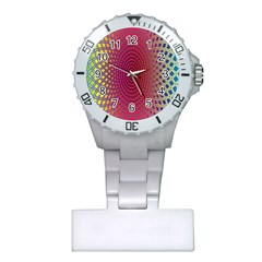 Abstract Circle Colorful Plastic Nurses Watch