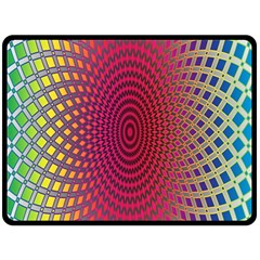 Abstract Circle Colorful Double Sided Fleece Blanket (Large)