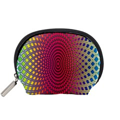 Abstract Circle Colorful Accessory Pouches (Small)