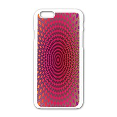 Abstract Circle Colorful Apple Iphone 6/6s White Enamel Case