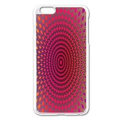 Abstract Circle Colorful Apple Iphone 6 Plus/6s Plus Enamel White Case