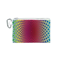 Abstract Circle Colorful Canvas Cosmetic Bag (S)