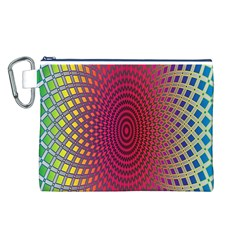 Abstract Circle Colorful Canvas Cosmetic Bag (L)