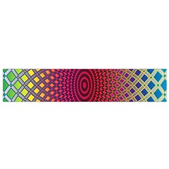 Abstract Circle Colorful Flano Scarf (Small)