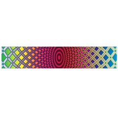 Abstract Circle Colorful Flano Scarf (large)