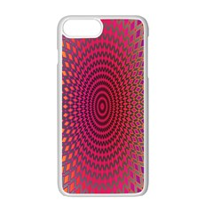 Abstract Circle Colorful Apple Iphone 7 Plus White Seamless Case