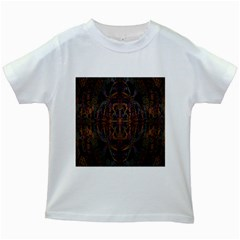 Digital Art Kids White T Shirts