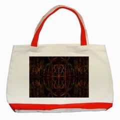 Digital Art Classic Tote Bag (red)